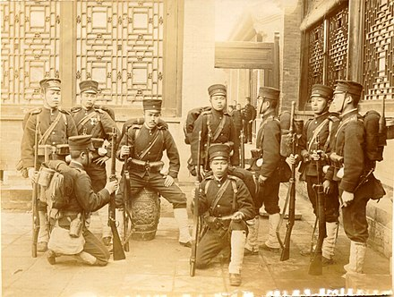 Japanese troops during the Boxer Rebellion Japanese infantry.jpg