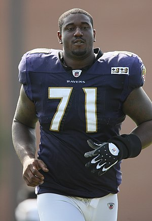 Jared Gaither - Gaither during Ravens camp in 2009