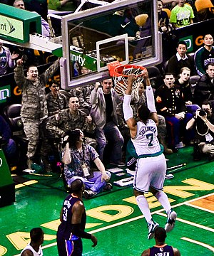 Jared Sullinger - Sullinger going up for a dunk with Boston.