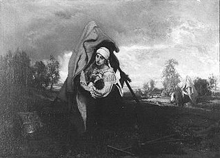 Een Hongaarse vrouw met kind