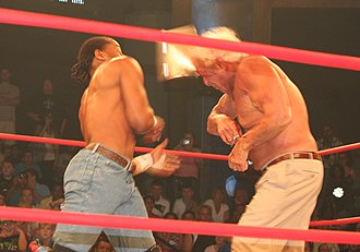 Jay Lethal - Lethal in the ring with Ric Flair