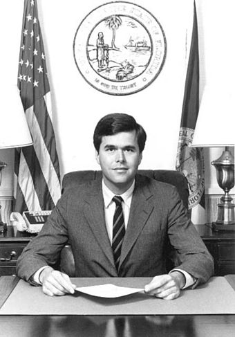 Jeb Bush as Florida Secretary of Commerce Jeb Bush as Florida Secretary of Commerce.jpg