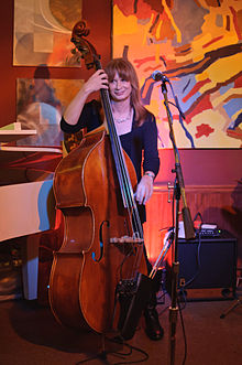 Jennifer Leitham performing in March 2012 in Sierra Madre, California