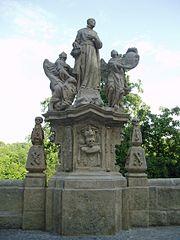 Socha svatého Františka Borgiáše v Barborské ulici v Kutné Hoře