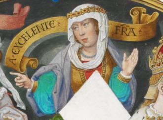 Joanna la Beltraneja - Queen Joana in Genealogia dos Reis de Portugal (António de Holanda; 1530–1534)