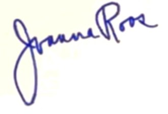 Joanna Roos - Image: Joanna Roos signature 1957