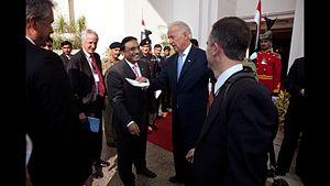 Pakistan Peoples Party - American Vice President and Democratic Party leader Joe Biden meeting with the integral leadership of the PPP in Islamabad, 2011.