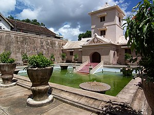 Taman Sari (Yogyakarta) - The bathing complex of Taman Sari.