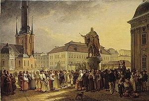 1829 in Sweden - Johan Gustaf Sandberg-Svensk allmoge kring