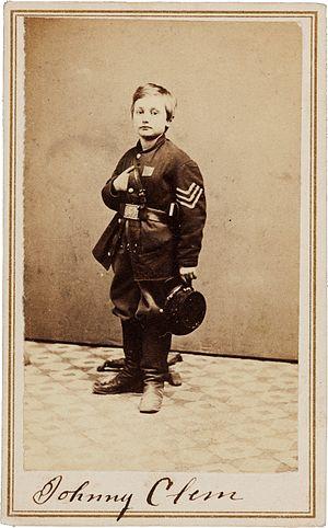 John Clem - Lance Sergeant  Clem, age 11