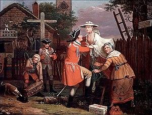 John Collett (artist) - The Elopement, 1764