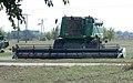 John Deere combine, agricultural machinery depot, 2018 Mezőkövesd.jpg