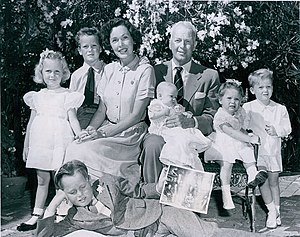 John Farrow - John Farrow and family in 1950