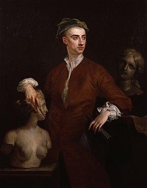 John Michael Rysbrack - John Michael Rysbrack, portrait by John Vanderbank, circa 1728.