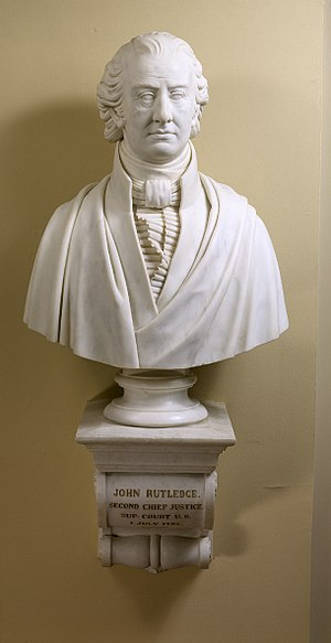 John Rutledge - A bust of John Rutledge located in the United States Supreme Court.