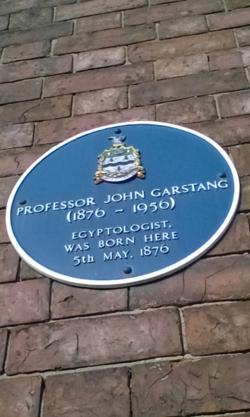 Photo of John Garstang blue plaque