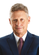 Portrait of rival presidential candidate Gary Johnson