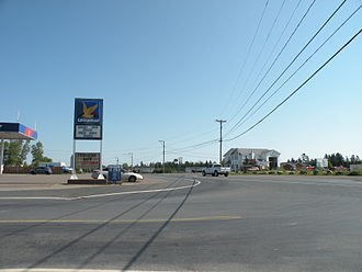Pokemouche, New Brunswick - The main intersection of Pokemouche.