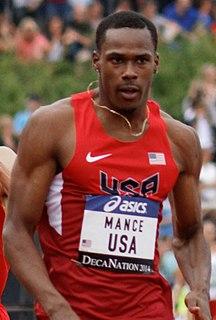 Joshua Mance American sprinter