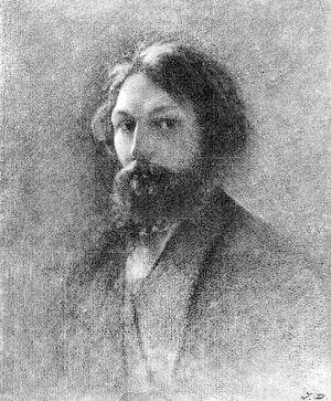 Jules Dupré - Self-portrait painted in 1853