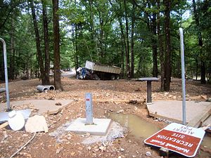 2010 Arkansas floods - Debris from the flooded campground, June 11