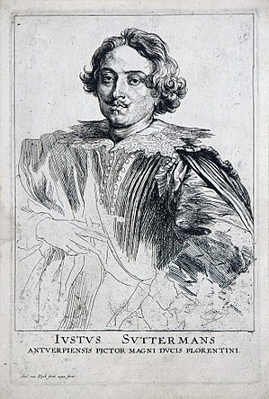 Justus Sustermans - Justus Sustermans, by Anthony van Dyck