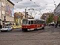 Křižovatka Anděl, Tatra T3R.P projíždí.jpg