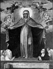 Madonna i en glorie af engle