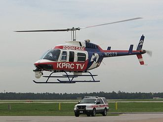 KPRC-TV - Chopper 2 departing George Bush Intercontinental Airport