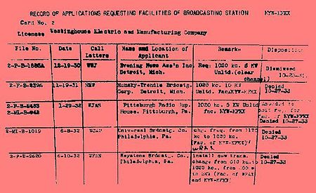 KYW-KFKX FCC History Card competing applications card number 2.jpg