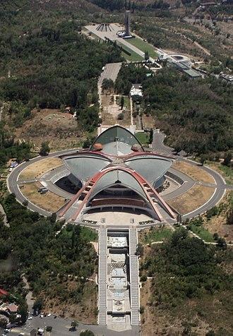 Karen Demirchyan Complex - An aerial view of the complex