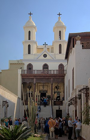 Coptic architecture - The Hanging Church is Cairo's most famous Coptic church first built in the AD 3rd or 4th century