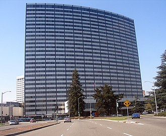 "Henry J. Kaiser - The Kaiser Center in downtown Oakland served as the headquarters of Kaiser Industries. Up to that time, it was Oakland's tallest building, as well as ""the largest office tower west of Chicago""."