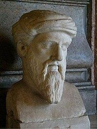 Fotografia d'un bust de Pitàgores