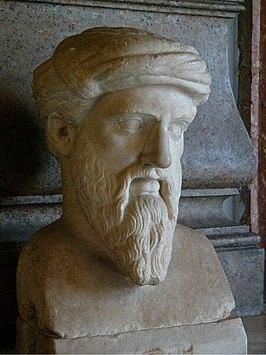 Pythagoras, Romeinse kopie naar een Grieks origineel, Musei Capitolini