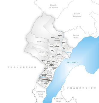 Commugny - Image: Karte Gemeinde Commugny