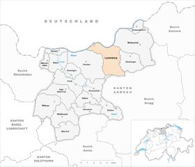 Map of Laufenburg