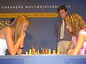 Carmen Kass - Kass (left) participating in the 2004 Mainz Chess Classic