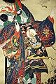 Kawanabe kyosai, la cortigiana infernale jogoku dayu, 1870-1880 ca. 03 kimono.jpg