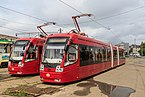 Kazan trams at Railway station.jpg