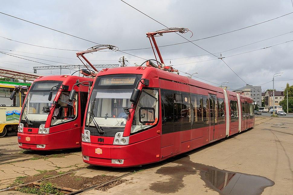 Kazan trams at Railway station
