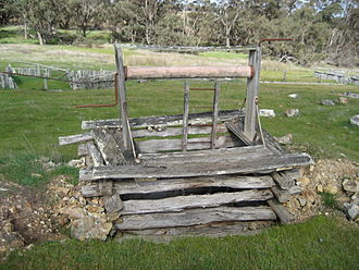 Kendenup, Western Australia - Remains of the old gold mine on Jellicoe Road, south of the townsite