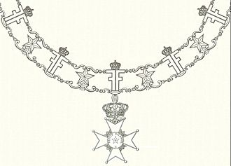 Order of the Polar Star - Collar of the Order of the Polar Star and the badge of the order