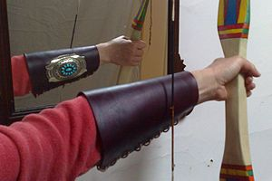 Bracer - Image: Ketoh armguard with bow