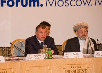 Hezbe Wahdat - Abdul Karim Khalili with Deputy Prime Minister of Russia Igor Sechin, May 14, 2009, Moscow.