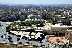 Khusruwiyah mosque and Aleppo view2