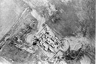 Nirim - Kibbutz Nirim. Aerial photograph from Palmach archive.