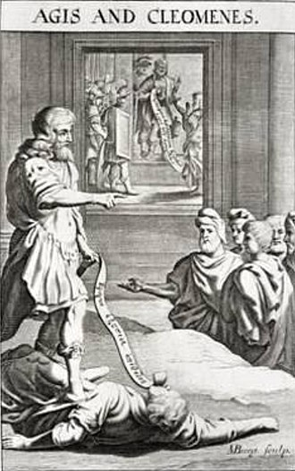 Cleomenes III - Kings Agis and Cleomenes, late 17th century engraving.
