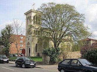 A307 road - Surbiton's Roman Catholic church of Saint Raphael