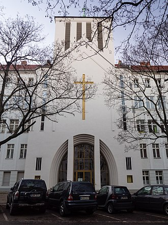Lutheranism by region - Holy Cross Lutheran Church in Berlin, a congregation belonging to the Independent Evangelical-Lutheran Church which originated from opposition of Old Lutherans to form the Prussian Union of churches